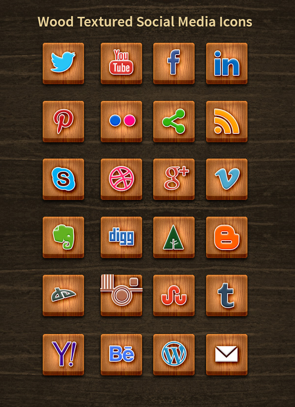 24-wood-textured-social-media-icons
