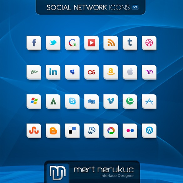 28-white-shaped-social-media-icons-set-png