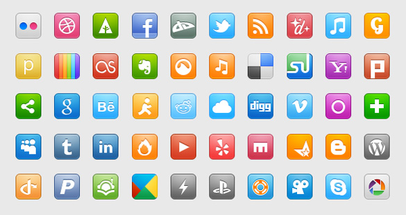 50-crisp-colorful-social-media-icons-set