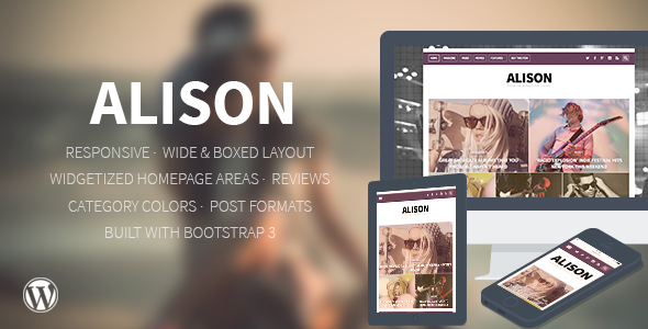 Alison - Responsive WordPress News Theme