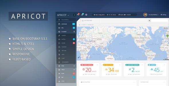 Apricot Bootstrap 3 Admin Dashboard Template