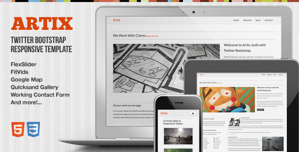 Artix - One Page Responsive Bootstrap Template