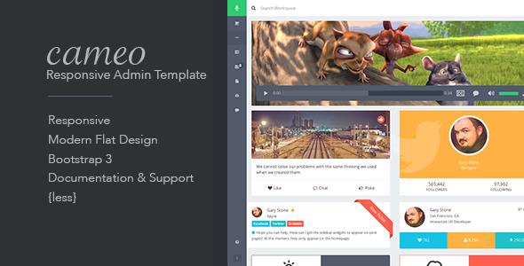 Cameo - Bootstrap 3 Responsive Admin Template