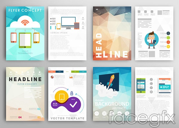 Cell phone brochure vector