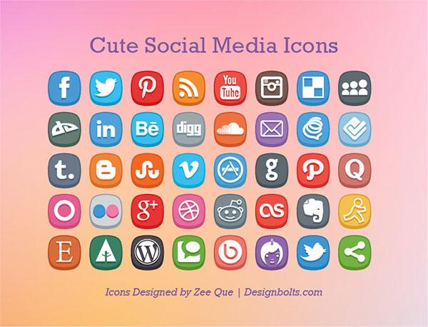 Cute-Social-Media-Icons