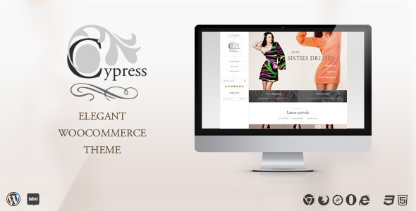 Cypress - woocommerce theme