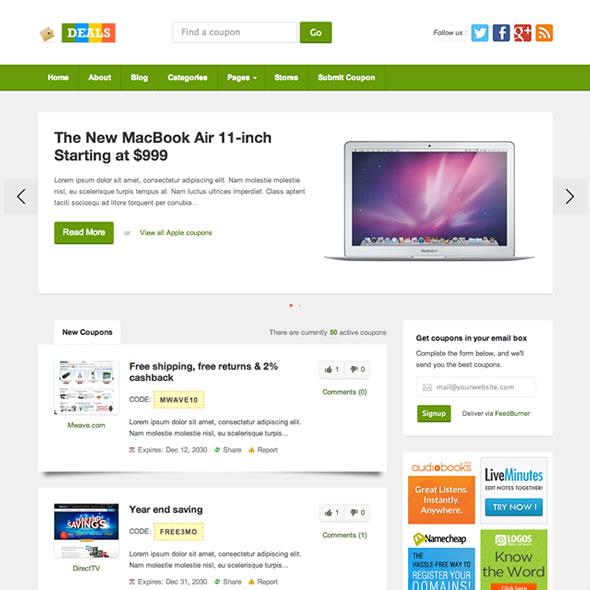 Deals WordPress Coupon Theme