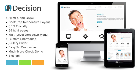 Decision - Bootstrap Responsive Template