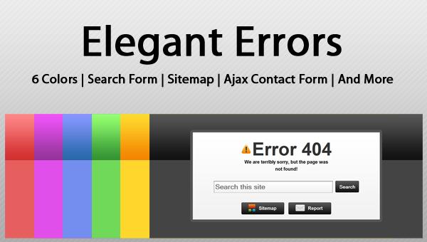 Elegant Errors – HTML Template