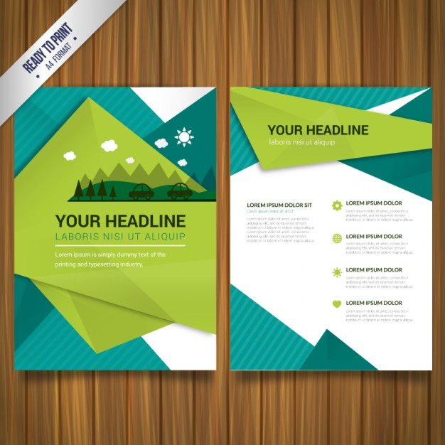 Environmental brochure vector