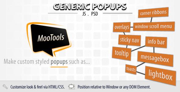 Generic Popups (MooTools)