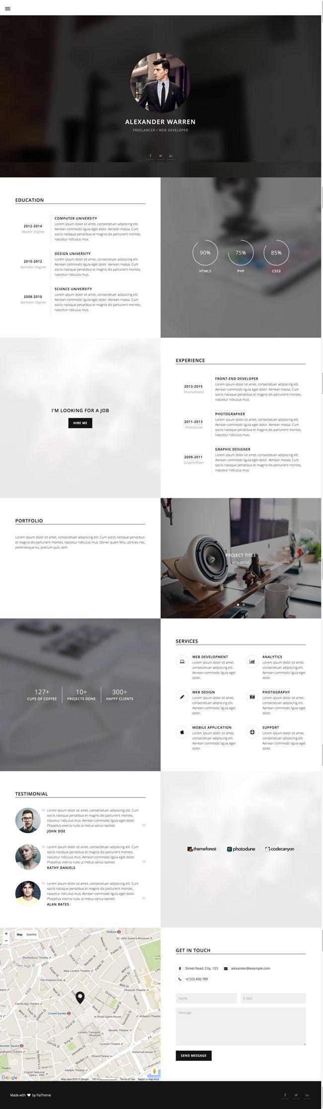 Gentleman-Personal-vCard-HTML5-Template