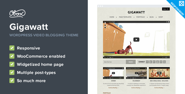 Gigawatt - WordPress Video Theme