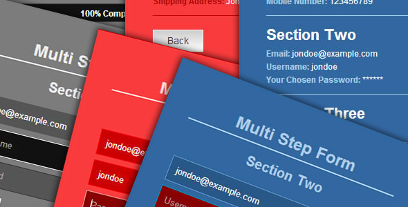 HTML5 jQuery Multi-Step Form