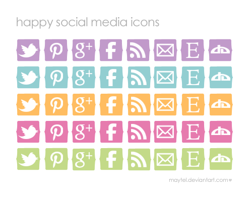 Happy-Social-Media-Icons