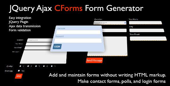 JQuery CForms Form Generator
