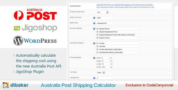 Jigoshop Australia Post Shipping Calculator