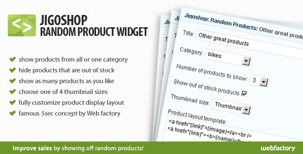 Jigoshop Random Product Widget
