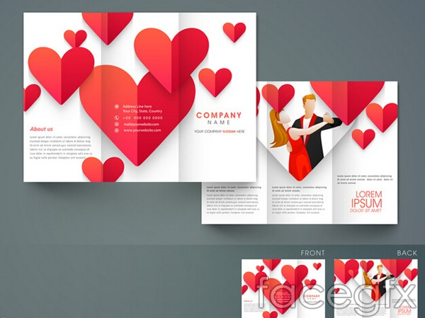 Loving pictorial brochure vector