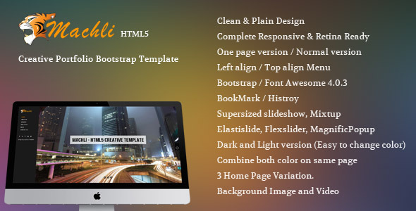 Machli - Simple Plain Creative Bootstrap Template