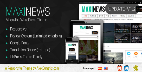 MaxiNews - Premium Review Magazine Theme