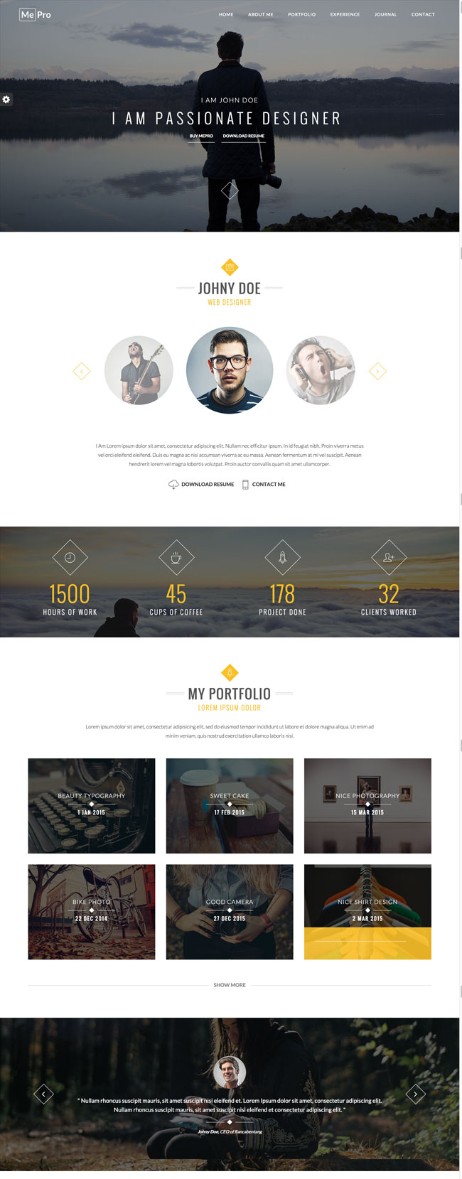 30+ Best HTML Virtual Business Card Templates 2016 - DesignMaz