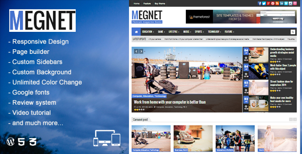 Megnet - WordPress Magazine theme