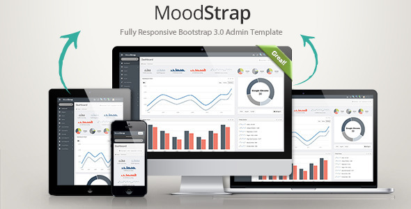 MoodStrap Responsive Bootstrap Admin Template
