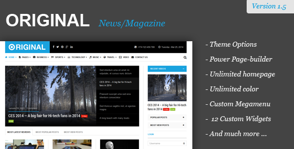 Original - Responsive Magazine WordPress Theme