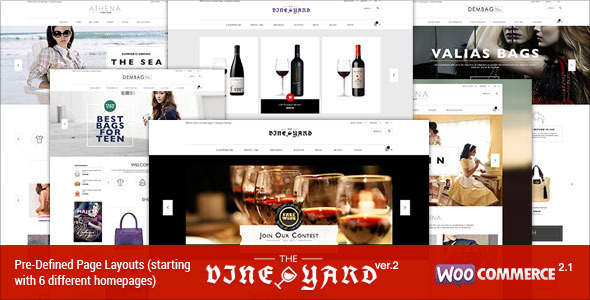 Responsive WooCommerce Theme - WineStore