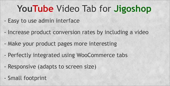 Responsive YouTube Video Tab for Jigoshop