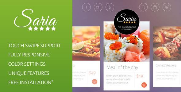 Saria Shop - Flat Responsive Shopify Theme