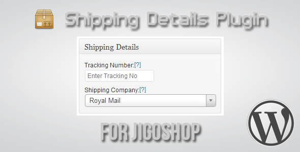 Shipping Details Plugin for Jigoshop