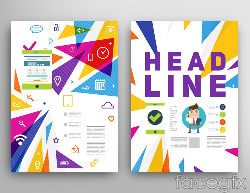 Stylish brochure cover design vector