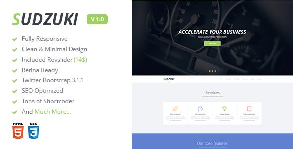 Sudzuki - Premium One Page Bootstrap Template