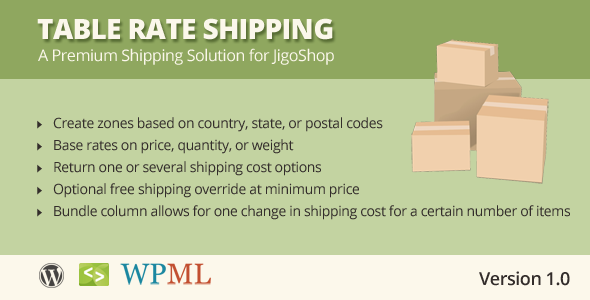Table Rate Shipping for JigoShop