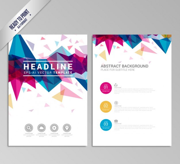 Vector-Brochure-with-colorful-geometric-design