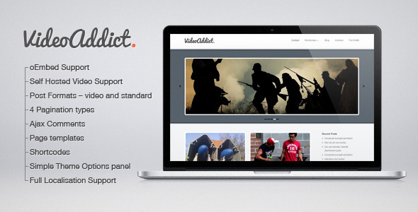 VideoAddict - WordPress Video Theme