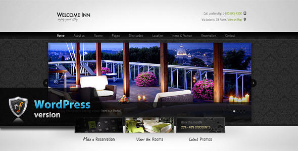 Welcome Inn - Hotel WordPress Theme