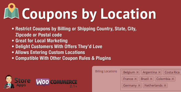 WooCommerce Coupons by Location