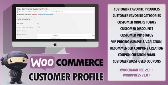 WooCommerce Customer VIP Profile