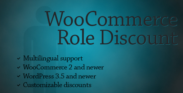 WooCommerce Role Discount