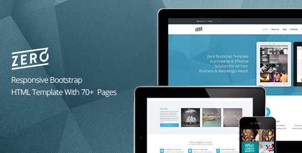 Zero - Responsive Bootstrap HTML Template