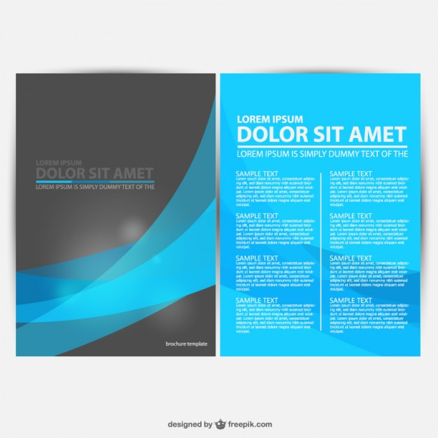 30 free brochure vector design templates designmaz for Graphic design brochure templates