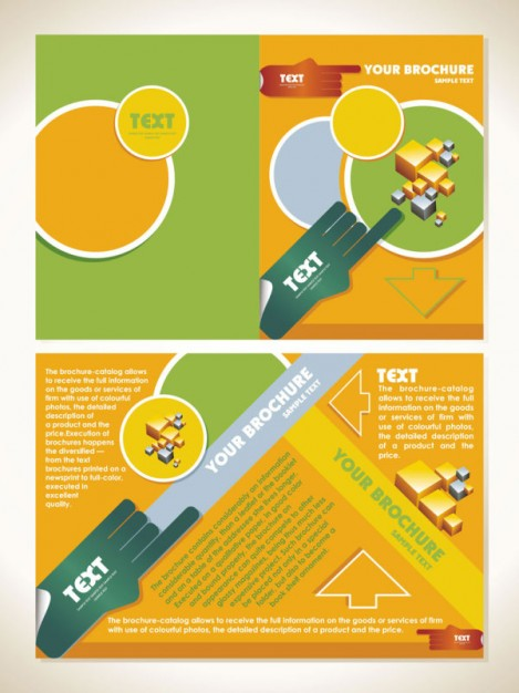 business-brochure-template-vector-material-vector