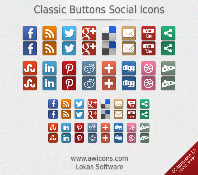 classic-buttons-social-icons