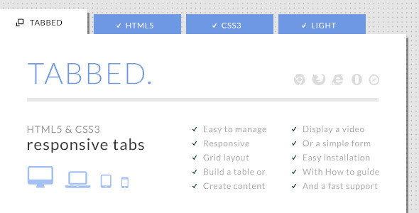 How to create awesome responsive css3 tabs designmaz - Css display table tutorial ...
