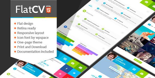 flatcv-resume-portfolio-html5
