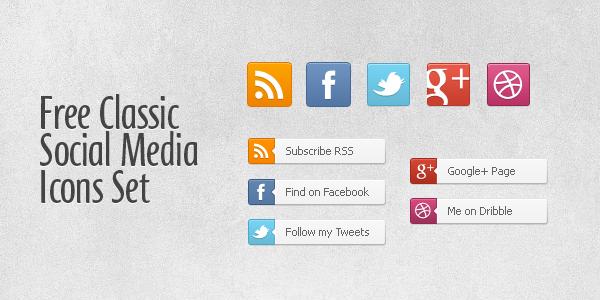 free-classic-social-media-icons