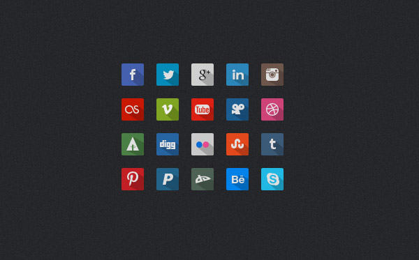 free-long-shadow-social-media-icons